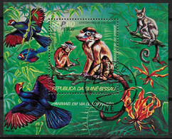 GUINEE BISSAU  BF Oblitere Singes Oiseaux - Monkeys