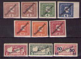 Österreich 1919/21 Mi.-Nr. 247 - 254 Postfrisch ** (Mi.21€)(A25-067) - Sin Clasificación