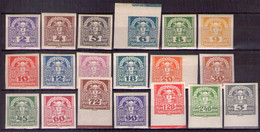 Österreich 1920 Mi.-Nr. 293 - 311 Postfrisch ** (A25-068) - Nuevos