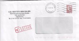 TP N° 4343 Seul Sur Enveloppe De Paris, Bureau 38296A - 1961-....