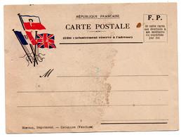 FRANCHISE MILITAIRE - CPFM - CORRESPONDANCE MILITAIRE - CARTE FM - WW2 -  . - Cartes De Franchise Militaire