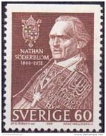 ZWEDEN 1966 60öre N.Söderblom Driezijdig Getand PF-MNH - Unused Stamps
