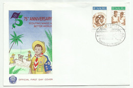 NAURU . FDC . 75éme ANNIVERSAIRE DES SCOUTS . 23 FEVRIER 1982 . - Nauru