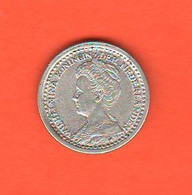 Paesi Bassi Olanda 10 Centesimi 1918  Silver Coin Netherland Wilhmina Koninghen Silver Coin - 10 Cent