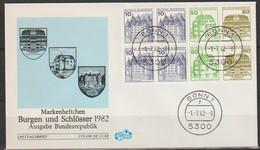 BRD FDC 1982 Burgen Und Schlösser Aus MH 24, H-Blatt29 Nr.913,1038,1140 (d 2263 )günstige Versandkosten - FDC: Sobres