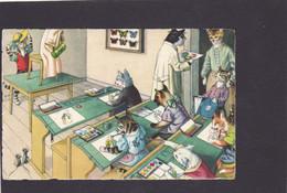 Anthropomorphic Cat Card  -    Cats In Classroom. - Katzen