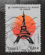 TIMBRE FRANCAIS . OBLITERATION....  ..2012.  CHAMP MONDE KARATE   N° 4681. TOUR EIFFEL - 2010-.. Matasellados