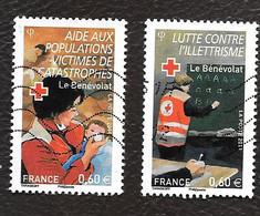TIMBRE FRANCAIS . OBLITERATION....2011   CROIX ROUGE   N°4624/4625. - 2010-.. Matasellados