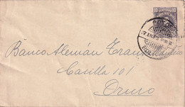 BOLIVIE 1922 ENTIER POSTAL/GANZSACHE/POSTAL STATIONARY  LETTRE DE POTOSI - Bolivia