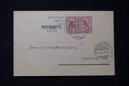 FINLANDE - Carte Commerciale De Vasa Pour Jakobatad En 1918 - L 90000 - Lettres & Documents