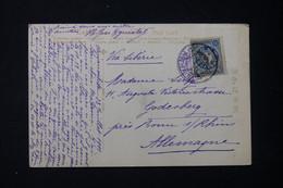JAPON - Affranchissement De Yokohama Sur Carte Postale ( Coq ) En 1911 Pour L'Allemagne Via Sibérie - L 90001 - Lettres & Documents