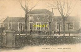 44 Orvault, Ecole Des Garçons, élèves Et Enseignants Dans La Cour..., Carte Pas Courante - Orvault