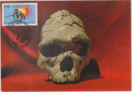 Carte-Maximum FRANCE N° Yvert 2759 (L'HOMME De TAUTAVEL) Obl Sp Ill 1er Jour Tautavel (Ed DINO 2.167 E) - 1990-99