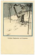 Guerre 1914-18.troupes Coloniales Anglaises.Homme De Couleur Aux Avants Postes. ( Noir Sur Neige Blanche ) Satire. - Humoristiques
