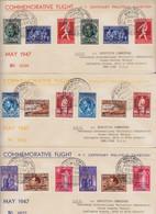 Poste Aérienne PA 15/23 + PA15A/23A Sur 3 Lettres Commemoratives - Aéreo