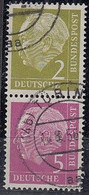 BRD  S 17, Gestempelt, Heuss 1955 - Se-Tenant