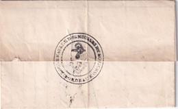 1841 - LETTRE De L'ECOLE NAVALE Des MOUSSES ET NOVICES De BORDEAUX - TEXTE !!! => CLERMONT-FERRAND - Correo Naval
