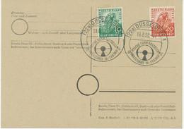 """BUNDESREPUBLIK """"(22a) DÜSSELDORF 1 / DEUTSCHE FUNK-AUSSTELLUNG / DÜSSELDORF 18.-27.8.1950"""" - Cartas"""