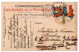 FRANCHISE MILITAIRE - CPFM - CORRESPONDANCE MILITAIRE - GIULIO CESARE - T&P 131 - CARTE FM - 1915 -  . - Cartes De Franchise Militaire