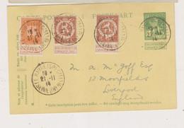 Carte Postale Depuis Le Havre Vers Liverpool Double Tarif - Postales [1909-34]