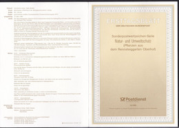 DE875 – RFA - FRG – 1991 – FDC – FLOWERS – MI # 1505/09 – CV 9 € - FDC: Feuilles