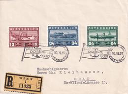 AUTRICHE 1937 LETTRE RECOMMANDEE DE WIEN - Cartas