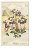 26800- Soldanelle Des Alpes Fleurs Kohler Chocolats Fins - Pubblicitari