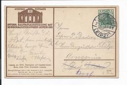 DR Ansichtskarte 50 Mit Sonderstempel Leipzig Int. Baufach-Ausstellung 1913 Bedarfsverwendet - Covers & Documents