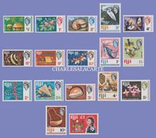 FIJI 1968 DEFINITIVES FLORA & FAUNA VIEWS CRAFTS ETC.  S.G. 371-387  U.M. / N.S.C. - Fidschi-Inseln (...-1970)