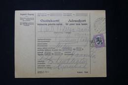 FINLANDE - Colis Postal En 1927 Pour Nummi - L 90020 - Cartas