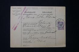 FINLANDE - Colis Postal En 1923 De Nokia Pour Helsinki - L 90021 - Cartas