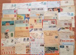 Colonies Françaises - Lot De 45 Lettres  Et Cartes Postales - Départ 1 Euro - - Beaux Affranchissements - Collections (without Album)