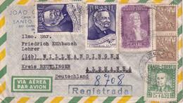 BRESIL 1954 PLI AERIEN POUR WILLMANDINGEN - Cartas