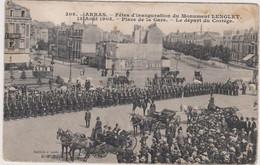 62  ARRAS  - Fetes Inauguration Monument Lenglet Place Gare Depart Cortege - CPA  9x14  N/B - Arras
