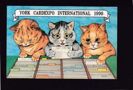 Cat Card -  Advertising 1990 York Cardexpo International Fair. - Gatos