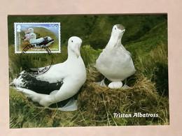 TRISTAN DA CUNHA 25th Anniversary Of World Heritage Site 2020 - Tristan Albatross Maximum Card (first Day Postmarking) - Tristan Da Cunha