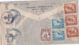 BOLIVIE 1941 PLI AERIEN CENSURE DE LA PAZ POUR HAMBURG - Bolivia