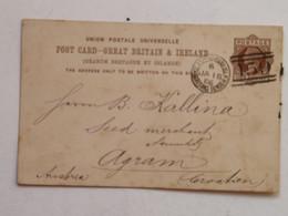 Postcard Glasgow Jan 18 86 -> Agram - Briefe U. Dokumente
