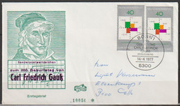 BRD FDC 1977 Nr.2x 928 200.Geb.Carl Friedrich Gauß ( D 6111 ) Günstige Versandkosten - FDC: Sobres