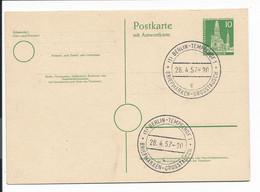 Berlin P 34 - 10 Pf Bauten II Doppelkarte M. Blko Sonderstempel Bln-Tempelhof Bfm-Grosstauschtag - Postales - Usados