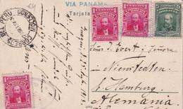 BOLIVIE 1913 CARTE POSTALE POUR HAMBURG - Bolivia