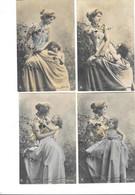 12001 - Série De 4 CPA Mère Et Enfant - Other