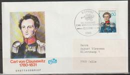 BRD FDC 1981 Nr.1115 150.Todestag Carl Von Clausewitz ( D 4344 ) Günstige Versandkosten - FDC: Sobres