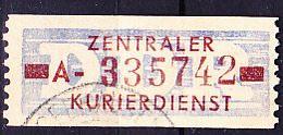 DDR GDR RDA - ZKD - Billettform  (MiNr: 20 Kennbuchstabe AII) 1958 - Gest Used Obl - Oficial
