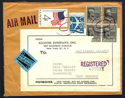 RECOMMANDÉ EN PROVENANCE DE NEW-YORK - 1960 - POUR BUECKEBURG - ALLEMAGNE - Briefe U. Dokumente