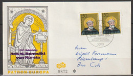 BRD FDC 1980 Nr.1055Paar  1500. Geb. Hl. Benedikt Von Nursia (  D 2224 ) Günstige Versandkosten - FDC: Sobres
