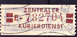 DDR GDR RDA - ZKD - Billettform  (MiNr: 21 Kennbuchstabe E) 1958 - Gest Used Obl - Oficial