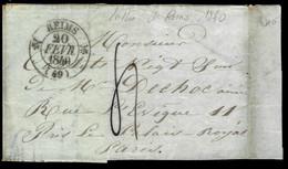 LETTRE DE REIMS - 1840 - POUR PARIS - 1801-1848: Precursors XIX