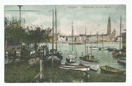 Antwerpen Panorama De La Ville Schelde Stad Briefstempel 1909 - Antwerpen