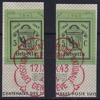 Zumstein W19-W20 / Michel 443-444 - Blockausschnitte Mit ET-Stempel - Blocks & Sheetlets & Panes